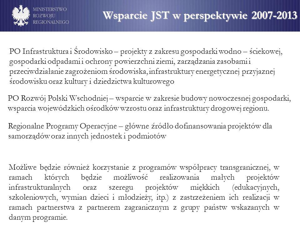 Wsparcie JST w perspektywie 2007-2013