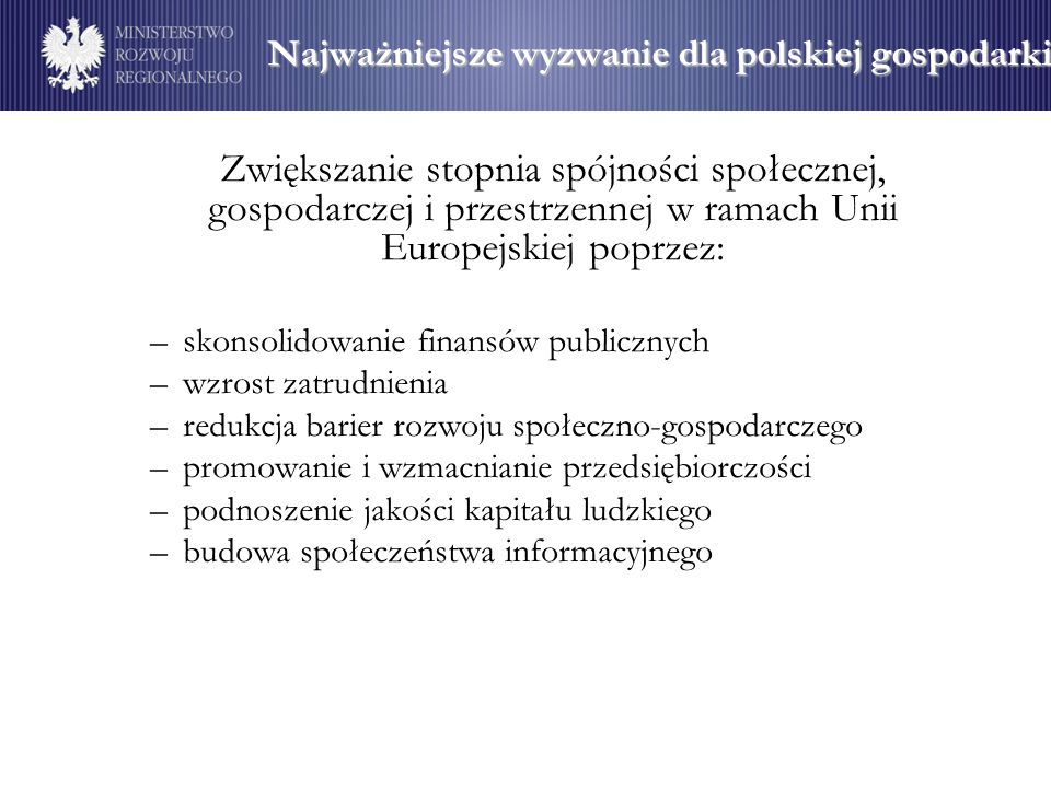Najważniejsze wyzwanie dla polskiej gospodarki