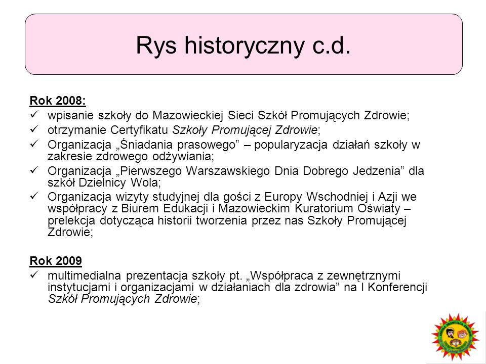 Rys historyczny c.d. Rok 2008: