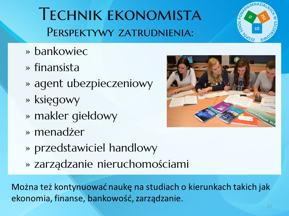 Technik ekonomista Perspektywy zatrudnienia: