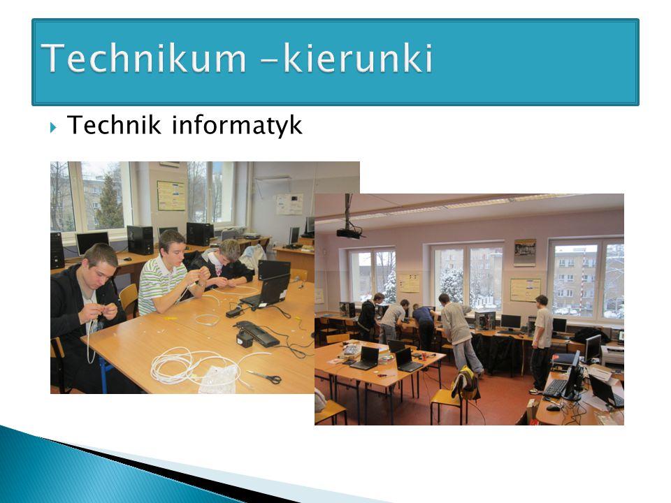 Technikum -kierunki Technik informatyk