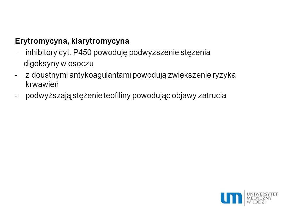Erytromycyna, klarytromycyna