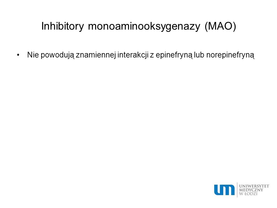 Inhibitory monoaminooksygenazy (MAO)