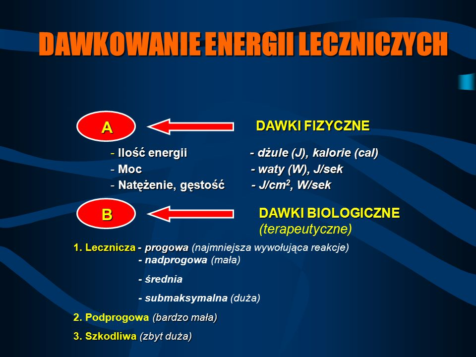DAWKOWANIE ENERGII LECZNICZYCH
