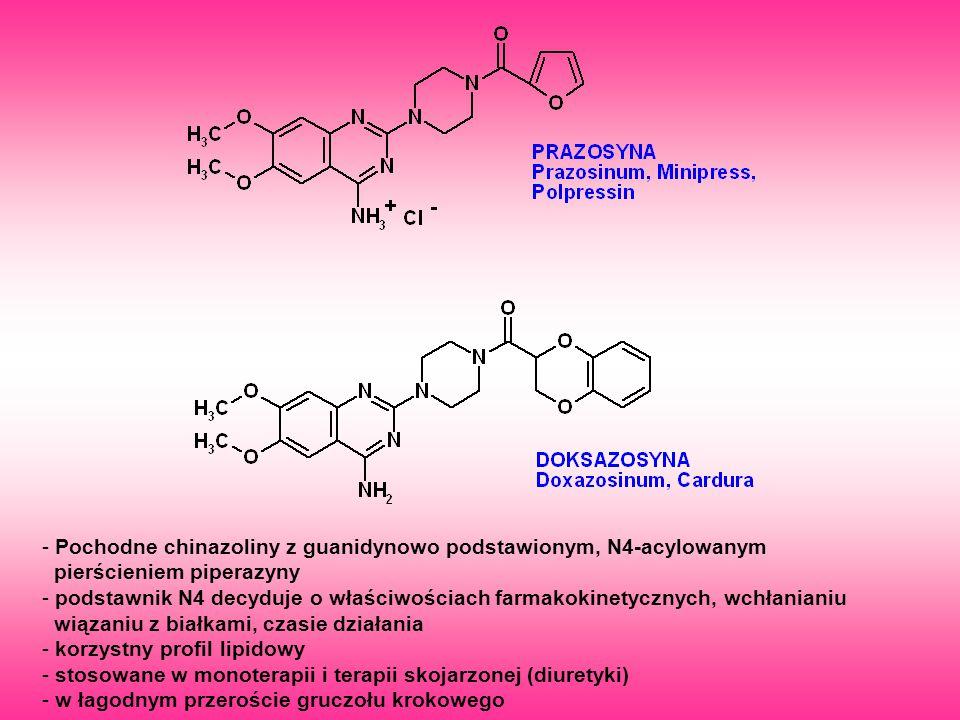Pochodne chinazoliny z guanidynowo podstawionym, N4-acylowanym
