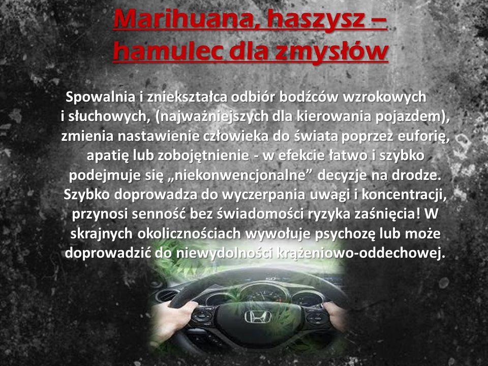 Marihuana, haszysz – hamulec dla zmysłów