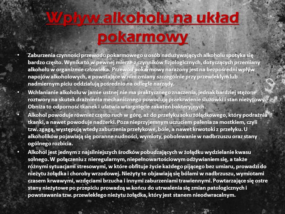 Wpływ alkoholu na układ pokarmowy