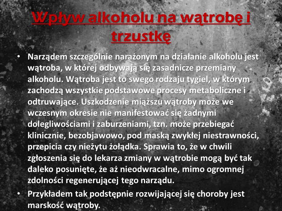 Wpływ alkoholu na wątrobę i trzustkę