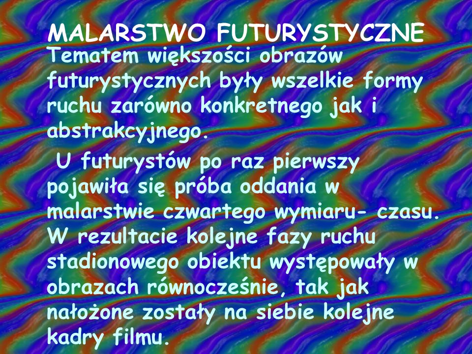 MALARSTWO FUTURYSTYCZNE