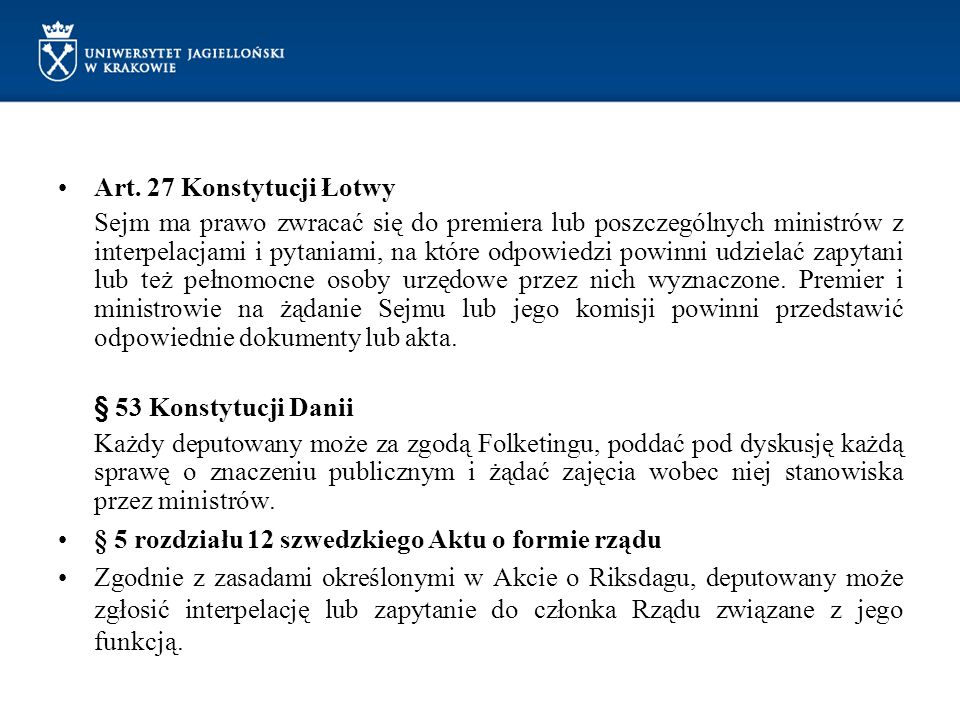Art. 27 Konstytucji Łotwy