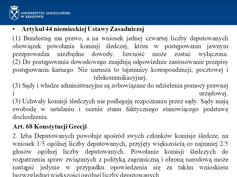 Artykuł 44 niemieckiej Ustawy Zasadniczej