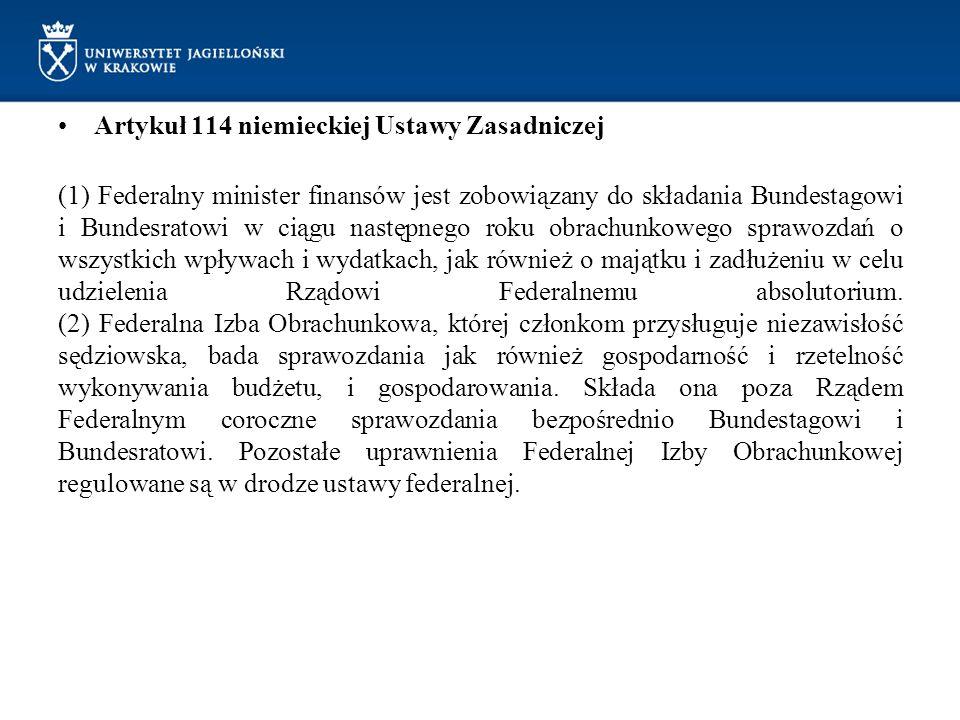 Artykuł 114 niemieckiej Ustawy Zasadniczej