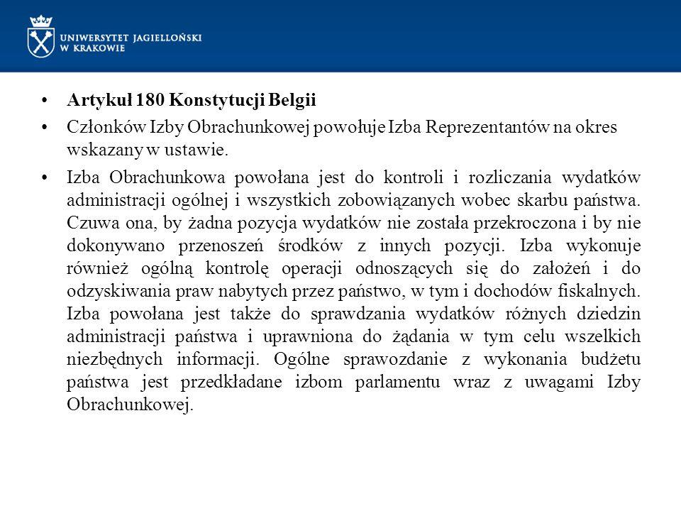 Artykuł 180 Konstytucji Belgii