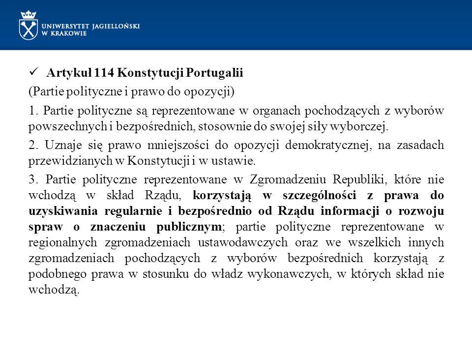Artykuł 114 Konstytucji Portugalii