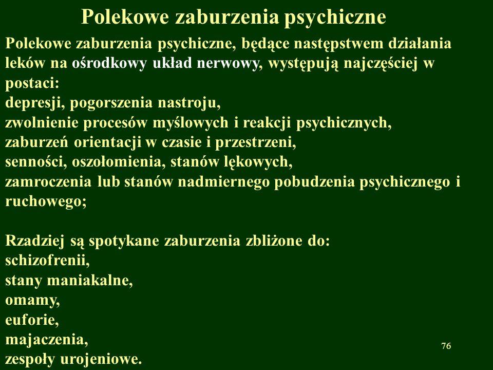 Polekowe zaburzenia psychiczne