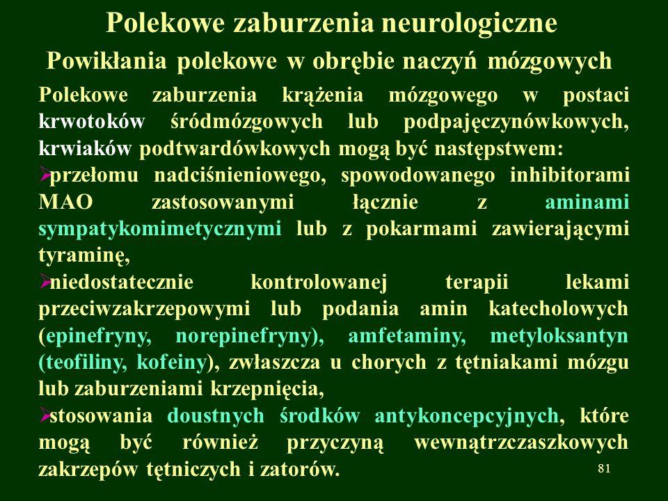 Polekowe zaburzenia neurologiczne