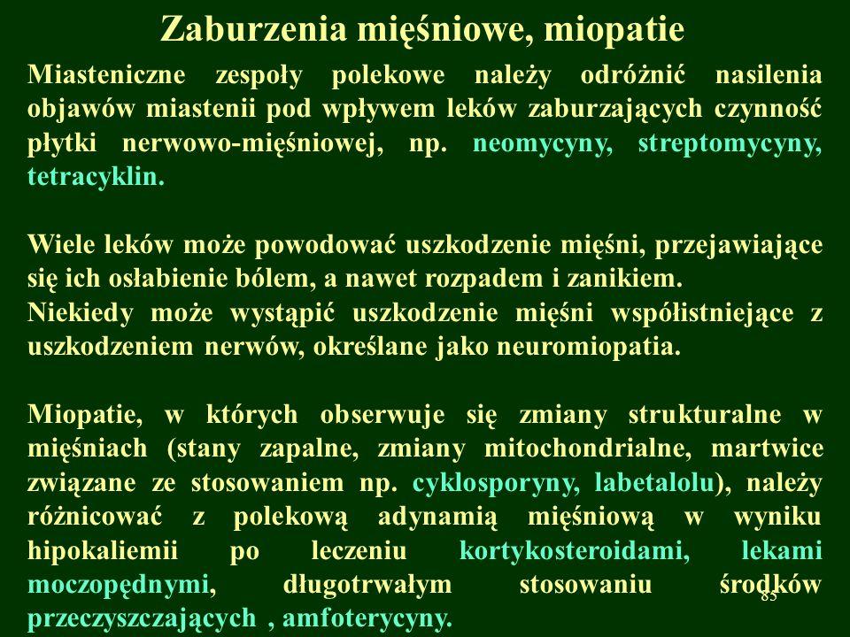 Zaburzenia mięśniowe, miopatie