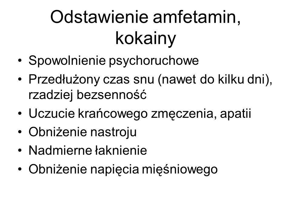 Odstawienie amfetamin, kokainy