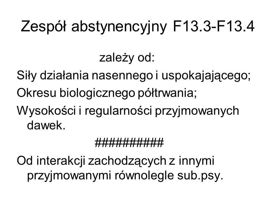 Zespół abstynencyjny F13.3-F13.4