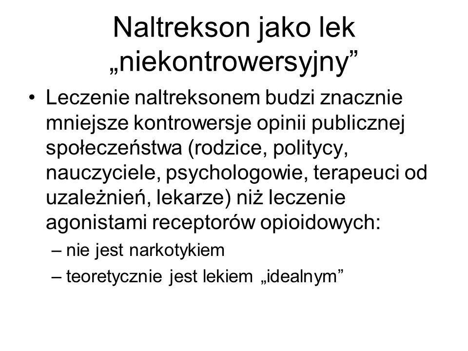 """Naltrekson jako lek """"niekontrowersyjny"""