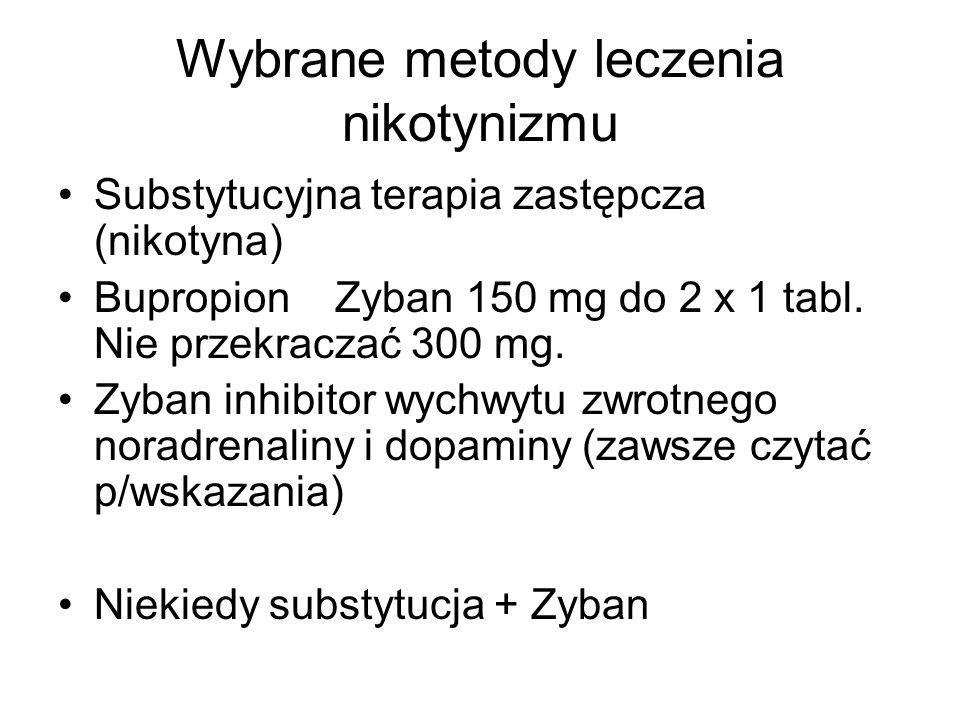 Wybrane metody leczenia nikotynizmu