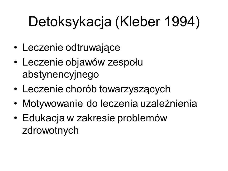 Detoksykacja (Kleber 1994)