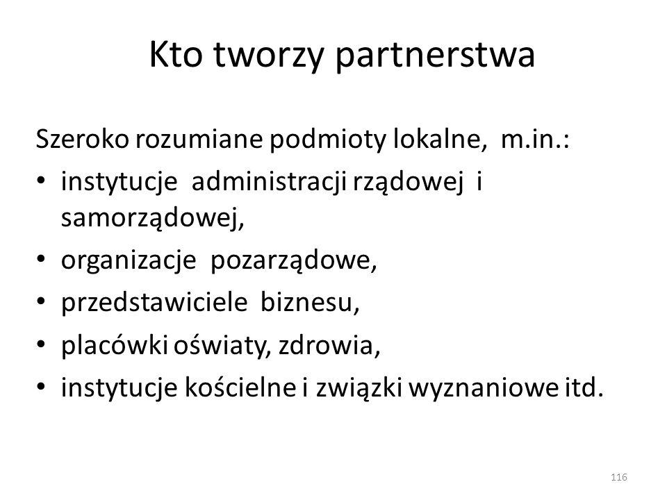 Kto tworzy partnerstwa