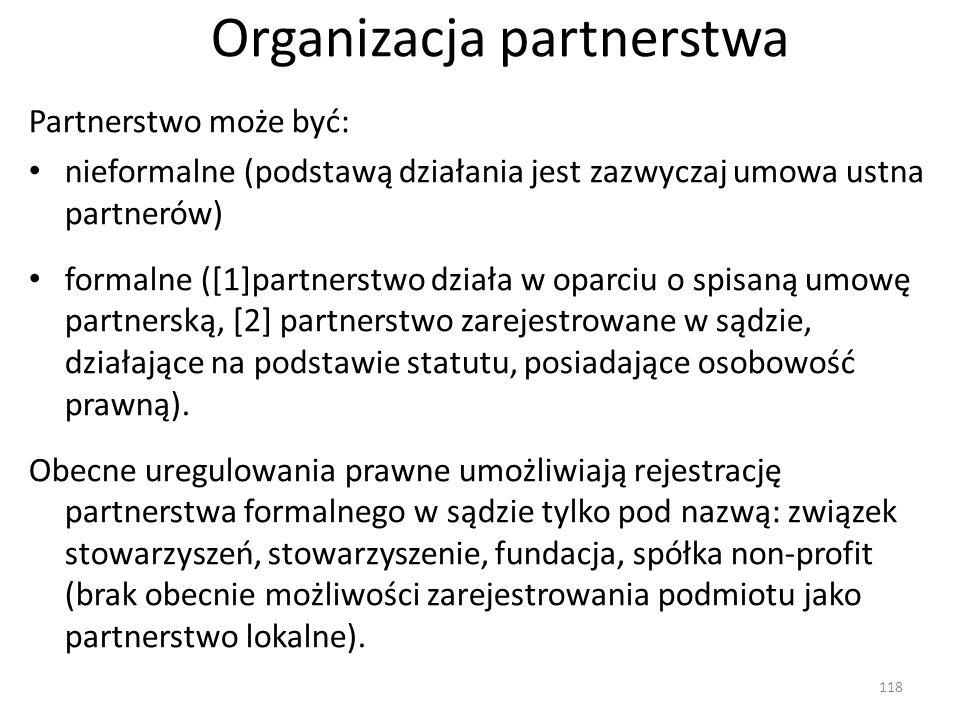 Organizacja partnerstwa