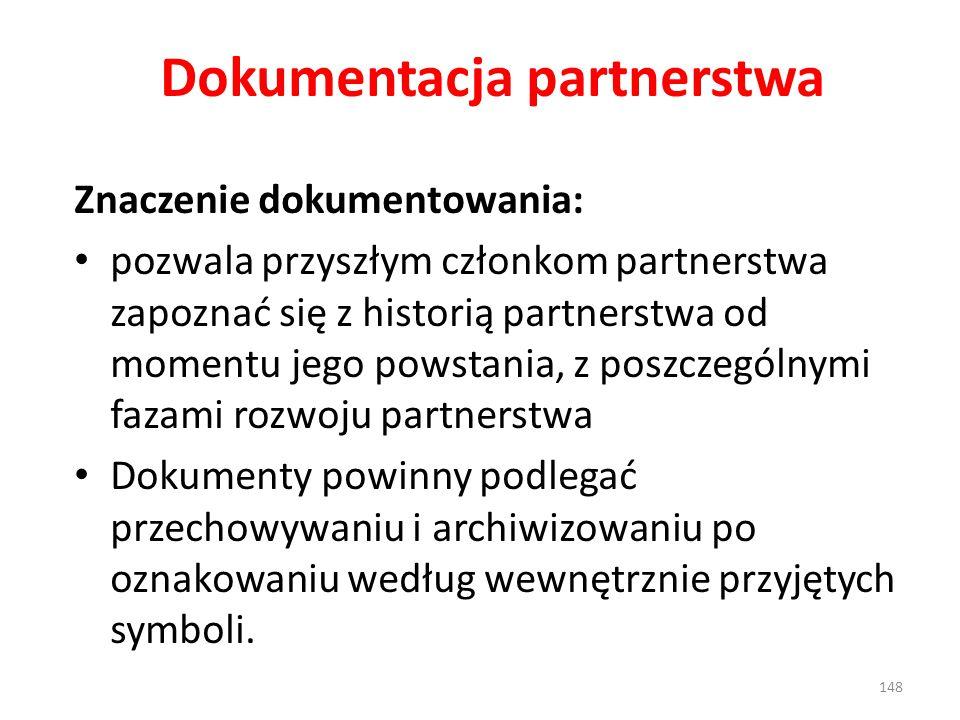 Dokumentacja partnerstwa
