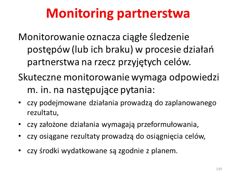 Monitoring partnerstwa