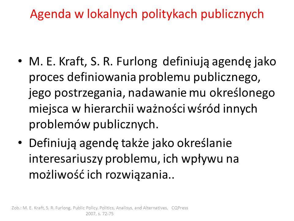 Agenda w lokalnych politykach publicznych