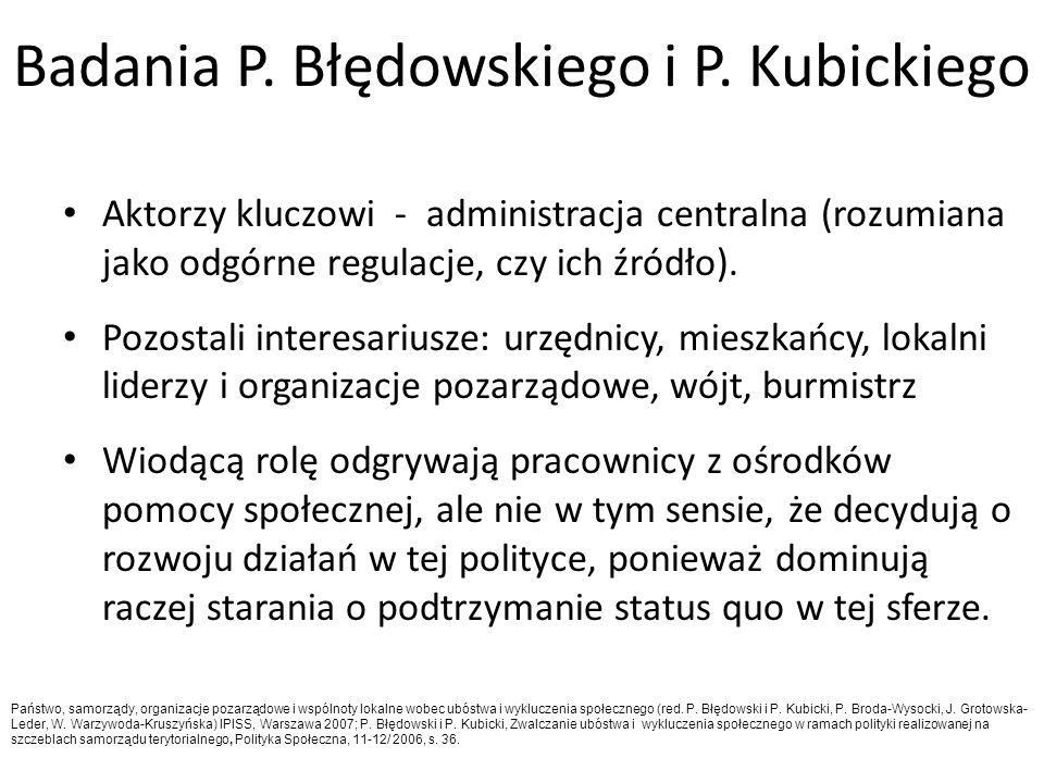 Badania P. Błędowskiego i P. Kubickiego