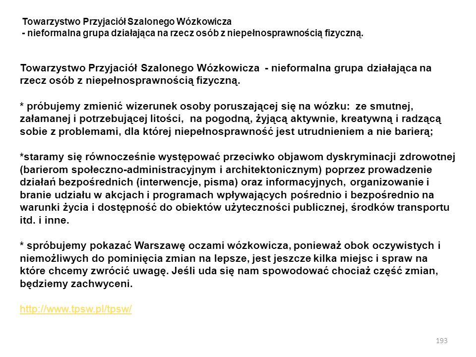 Towarzystwo Przyjaciół Szalonego Wózkowicza