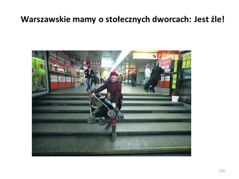 Warszawskie mamy o stołecznych dworcach: Jest źle!
