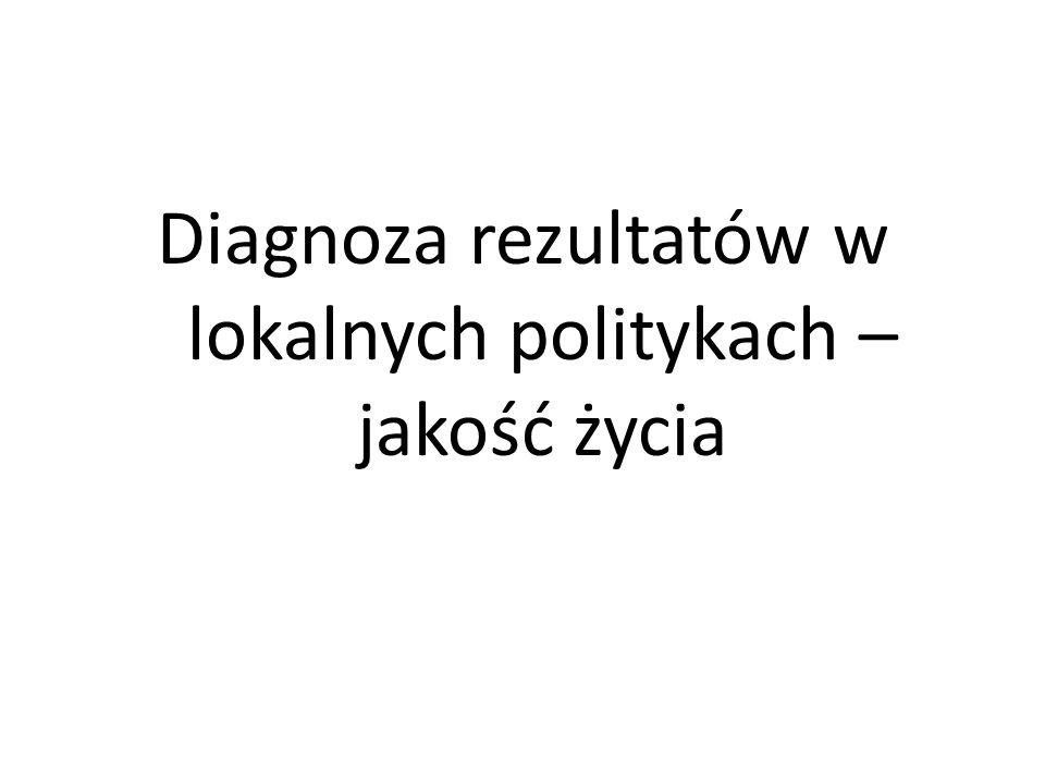 Diagnoza rezultatów w lokalnych politykach – jakość życia