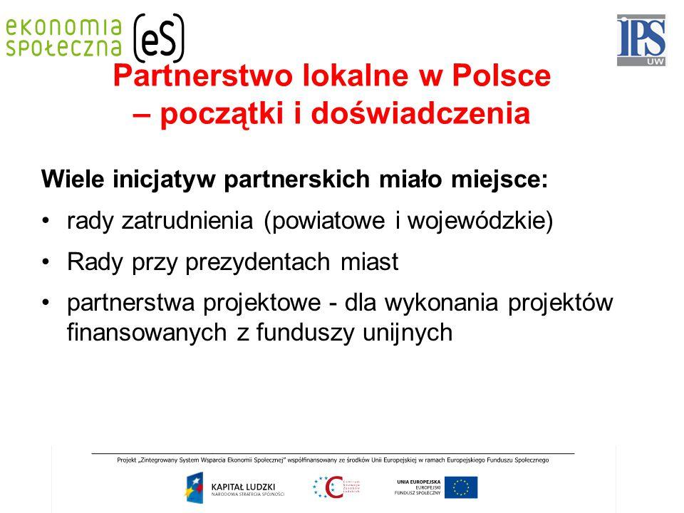 Partnerstwo lokalne w Polsce – początki i doświadczenia