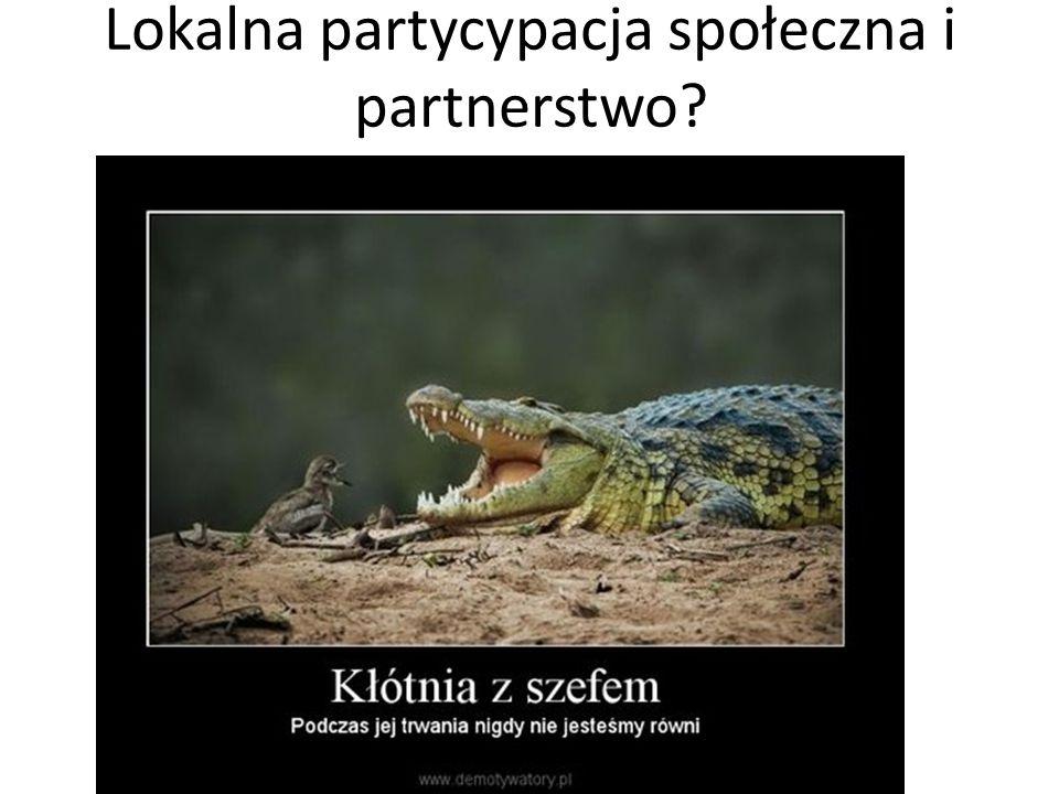 Lokalna partycypacja społeczna i partnerstwo