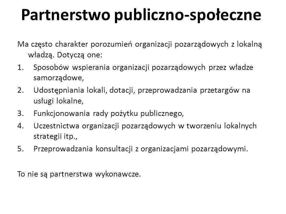 Partnerstwo publiczno-społeczne