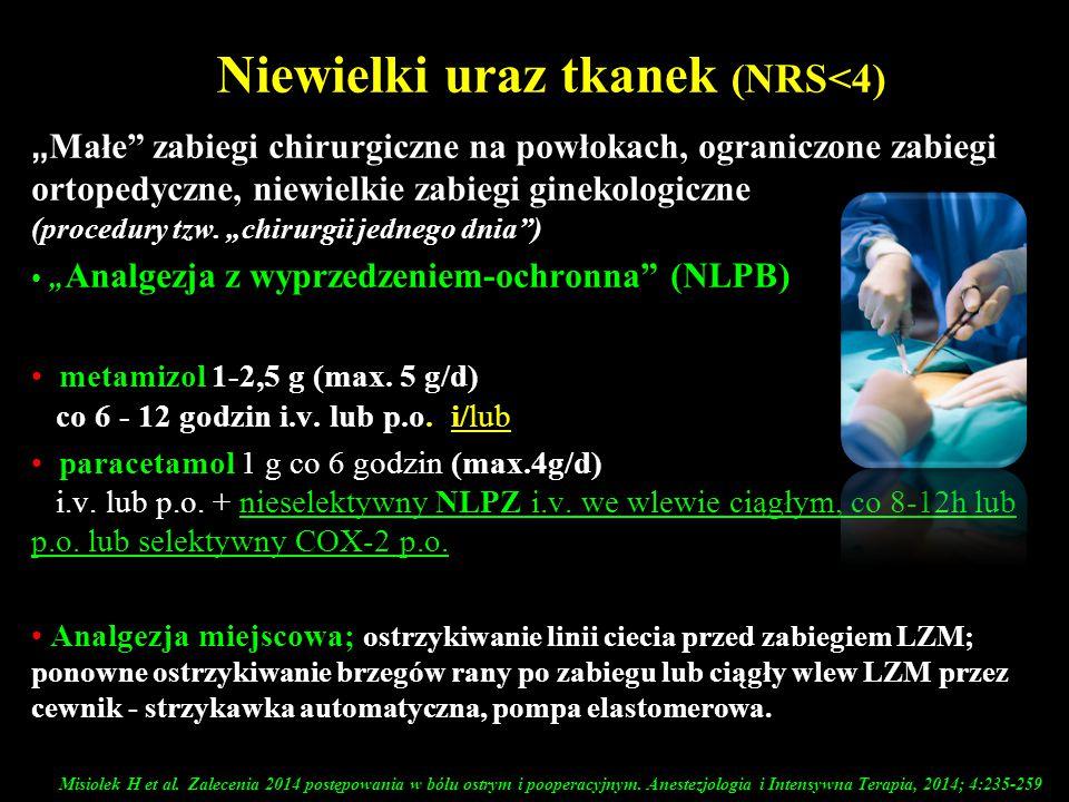 Niewielki uraz tkanek (NRS<4)