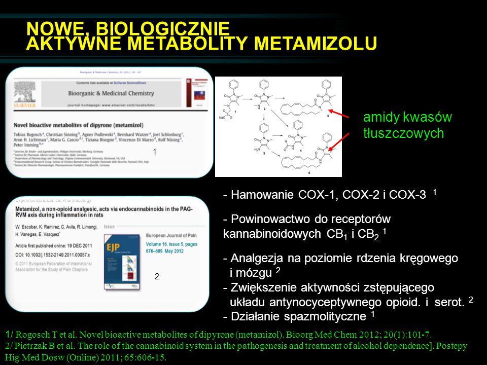 NOWE, BIOLOGICZNIE AKTYWNE METABOLITY METAMIZOLU