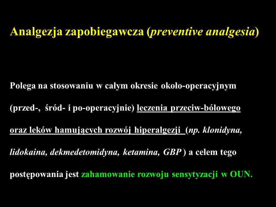 Analgezja zapobiegawcza (preventive analgesia)