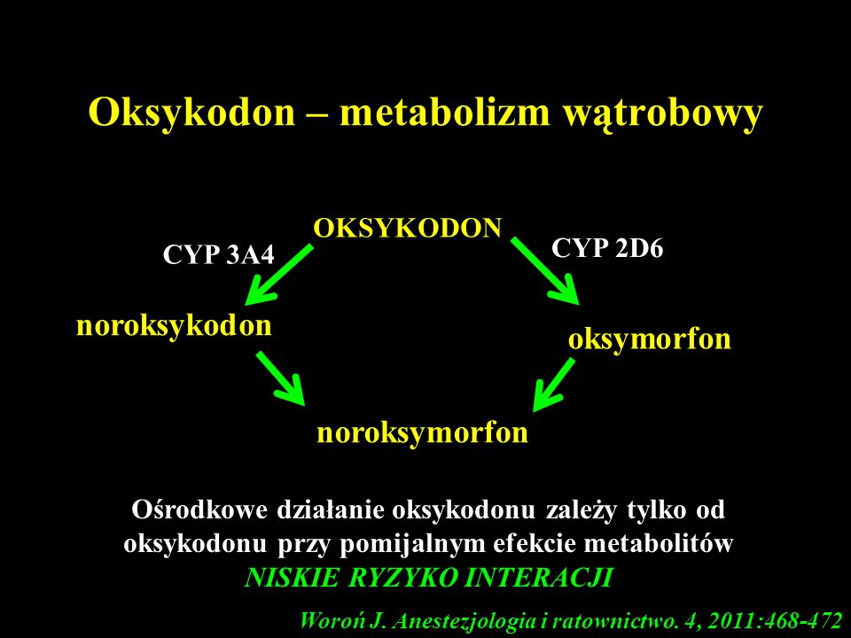 Oksykodon – metabolizm wątrobowy