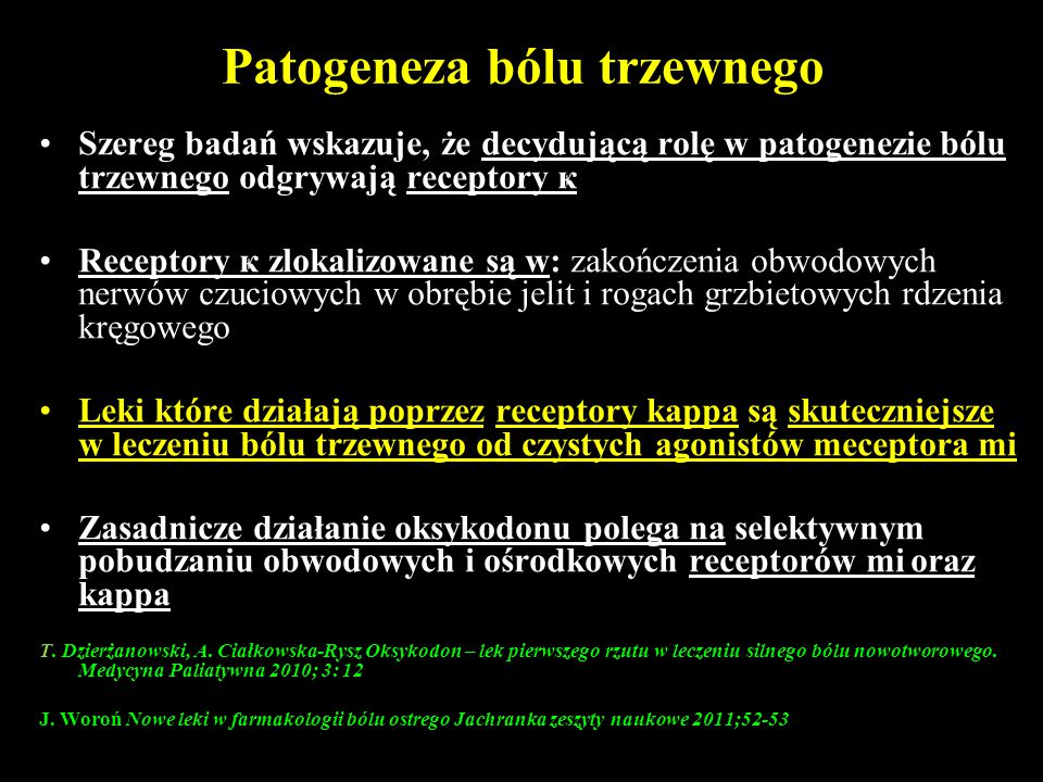 Patogeneza bólu trzewnego