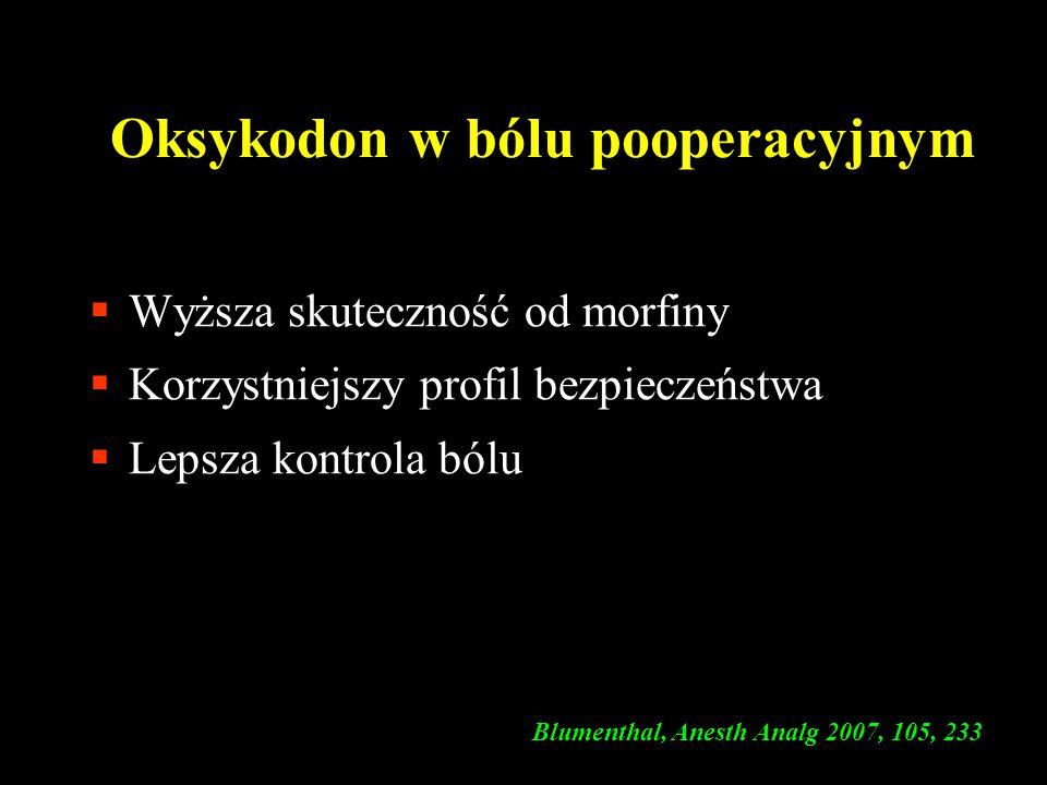Oksykodon w bólu pooperacyjnym