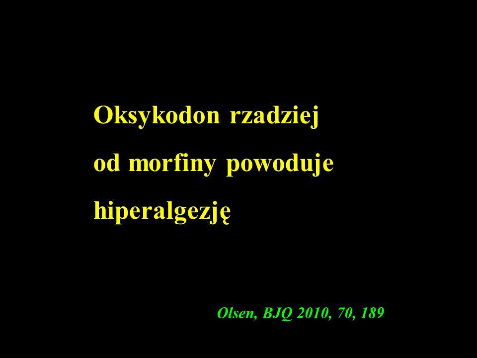 Oksykodon rzadziej od morfiny powoduje hiperalgezję