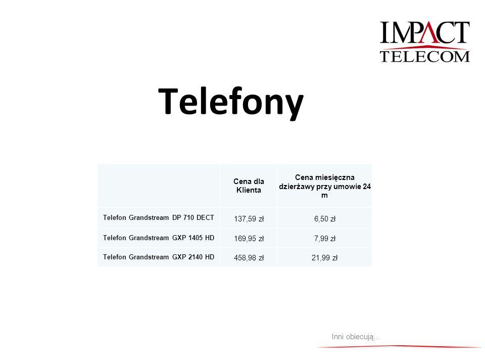 Telefony Cena dla Klienta Cena miesięczna dzierżawy przy umowie 24 m