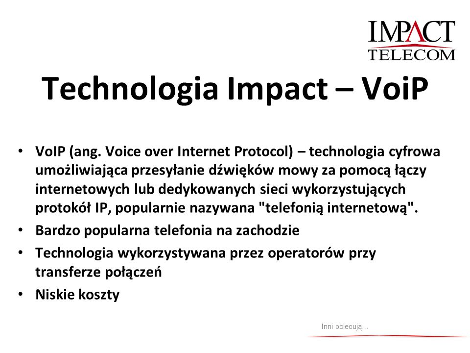 Technologia Impact – VoiP