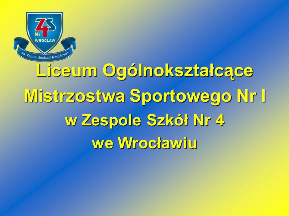 Liceum Ogólnokształcące Mistrzostwa Sportowego Nr I w Zespole Szkół Nr 4