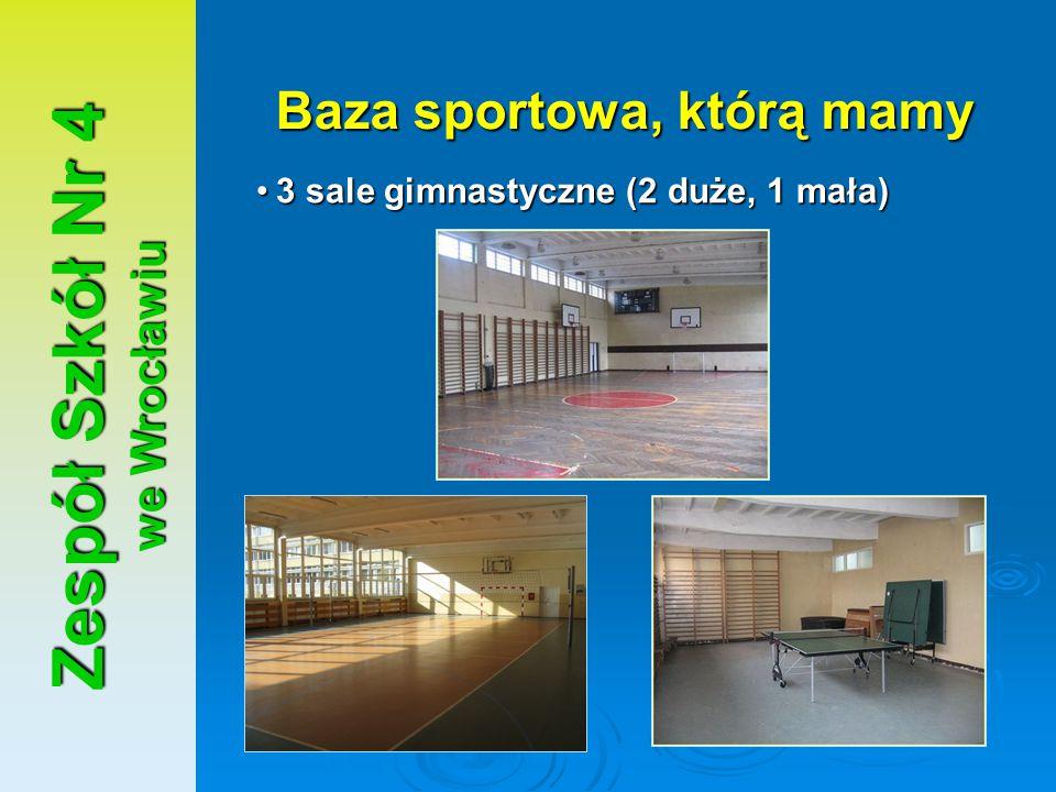 Baza sportowa, którą mamy Zespół Szkół Nr 4 we Wrocławiu