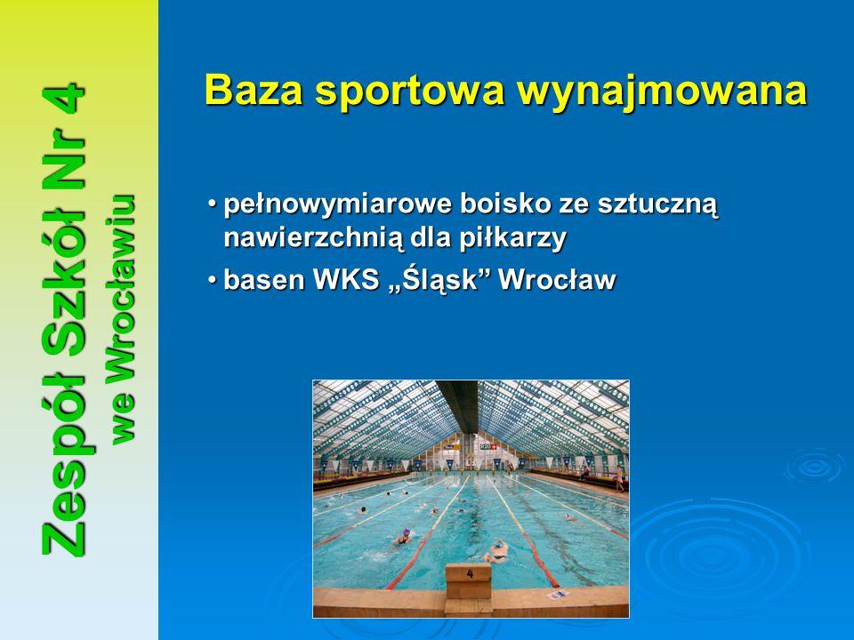Baza sportowa wynajmowana Zespół Szkół Nr 4 we Wrocławiu